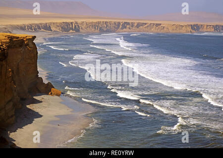 Paracas National Reserve, Where the Desert Meets the Ocean, Ica Region of Peru, South America - Stock Photo