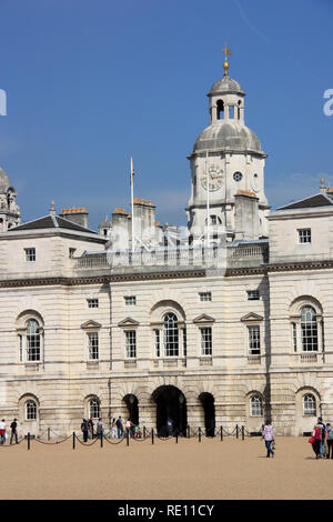Mid-18th century Horse Guards viewed across Horse Guards Parade in London, United Kingdom - Stock Photo