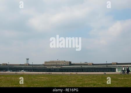 Berlin / Germany - April 2011: The former Tempelhof Airport - Stock Photo