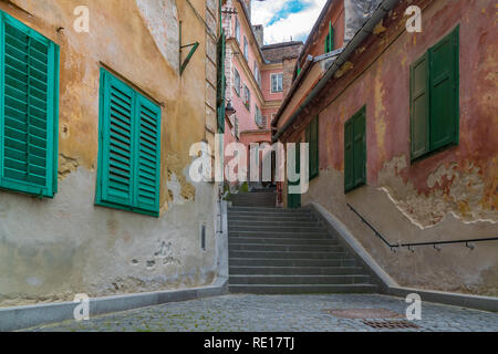 Goldsmith's Stairway Tower in Sibiu, Romania. - Stock Photo