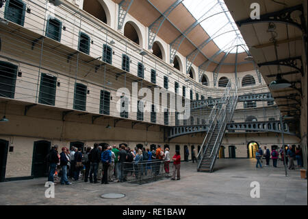 Interior of Kilmainham Gaol, Dublin, Republic of Ireland - Stock Photo