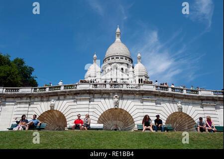 A general view of Sacre Coeur, Montmatre, Paris, France - Stock Photo