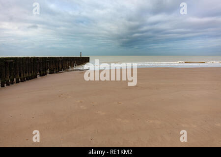 Beach at the Northsea, Netherlands - Stock Photo