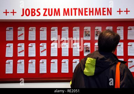 Job Seekers Market, Job offers at a stall, Computer and IT Trade Fair Cebit, Hanover Messe, Trade Fair, Hanover, Lower Saxony
