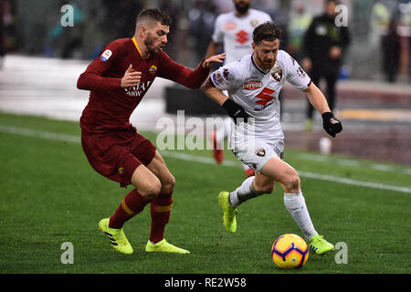 Rome, Italy. 19th Jan, 2019. Serie A Football Rome vs Turin, Rome, Italy - 19 Jan 2019 Credit: Independent Photo Agency/Alamy Live News - Stock Photo