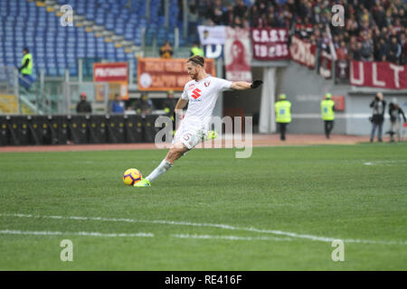 Rome, Italy. 19th Jan, 2019. Cristian Ansaldi at Stadio Olimpico of Rome, As Roma beat Fc Torino 3-2 for the first game of second round match of Italian Serie A. Credit: Paolo Pizzi/Pacific Press/Alamy Live News - Stock Photo