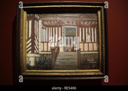 La Casa de Misia Sert, The House of Misia Sert, 1906,  Pierre Bonnard,  canvas, tempera,  Musee d'Orsay, Paris,  2016, CCBB, São Paulo, Brazil - Stock Photo