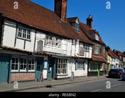 West Wycombe High Street, Buckinghamshire, UK. Chilterns. Landscape. - Stock Photo