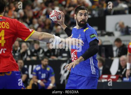 Cologne, Deutschland. 19th Jan, 2019. firo: 19.01.2019, Handball: World Cup World Cup Main Round France - Spain. Nikola Karabatic | usage worldwide Credit: dpa/Alamy Live News - Stock Photo