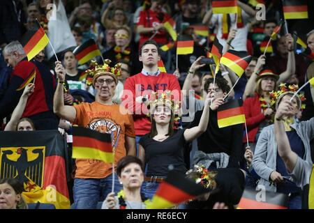 Cologne, Deutschland. 19th Jan, 2019. firo: 19.01.2019, Handball: World Cup World Cup Main Round Germany - Iceland. FAns Germany | usage worldwide Credit: dpa/Alamy Live News - Stock Photo