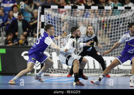 Cologne, Deutschland. 19th Jan, 2019. firo: 19.01.2019, Handball: World Cup World Cup Main Round Germany - Iceland. Jannik Kohlbacher | usage worldwide Credit: dpa/Alamy Live News - Stock Photo