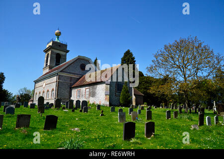 St Lawrence's Church, West Wycombe, Buckinghamshire, UK. Chilterns. Landscape. - Stock Photo