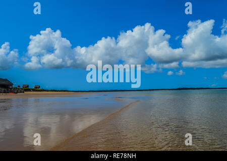 Pristine and Turquoise Portuguese Island beach near Inhaca Island in Maputo Mozambique - Stock Photo