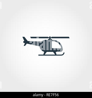 Helicopter creative icon. Simple element illustration. Helicopter concept symbol design from airport collection. Can be used for web, mobile and print - Stock Photo