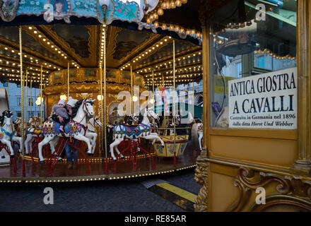 Rome, Italy, carousel in Piazza Navona Stock Photo: 151033823 - Alamy