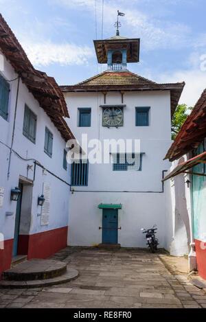 Clock tower, Paradesi Synagogue, Cochin, Kochi, Kerala, India - Stock Photo
