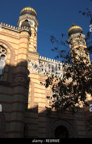 Dohány Street Synagogue, Budapest, Hungary - Stock Photo