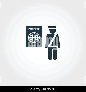 Passport Control creative icon. Simple element illustration. Passport Control concept symbol design from airport collection. Perfect for web design, apps, software, print. - Stock Photo