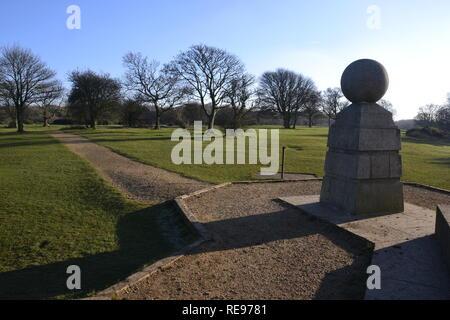 The Boer War Memorial on Coombe Hill, Wendover, Buckinghamshire, UK. Chilterns landscape. Monument