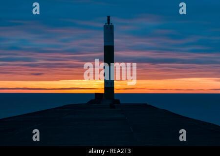 sunset aberystwyth - Stock Photo