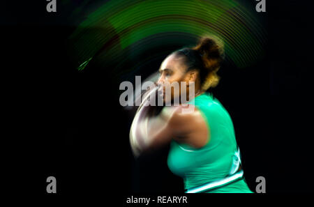 Melbourne, Australia. 21th Jan, 2019. Serena Williams from USA makes her way into the QF at Day 8 at the 2019 Australian Open Grand Slam tennis tournament in Melbourne, Australia. Frank Molter/Alamy Live news - Stock Photo
