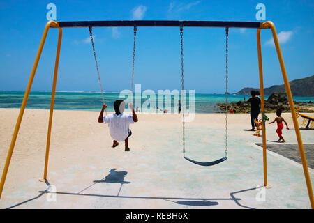 Kids on the Beach Playground, Mandalika Beach, Lombok - Indonesia - Stock Photo