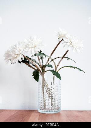 Flowers in a vase, modern Scandinavian style - Stock Photo