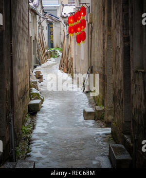Hongcun (Chinese: 宏村; pinyin: Hóngcūn; literally: 'Hong village') is a village in Hongcun Town (宏村镇), Yi County in Anhui Province. - Stock Photo