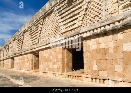 Uxmal, UNESCO World Heritage Site, Cuadrangulo de las Monjas, The Nunnery Quadrangle, Yucatan, Mexico - Stock Photo