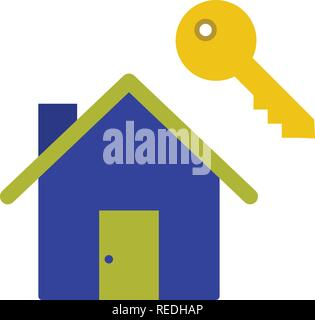 House Key Vector Icon Sign Icon Vector Illustration For Personal And Commercial Use... Clean Look Trendy Icon... - Stock Photo