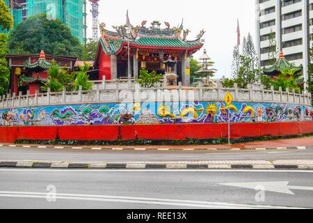 Famous Tua Pek Kong Chinese Temple in capital city of Sarawak, Kuching, Borneo, Malaysia. - Stock Photo