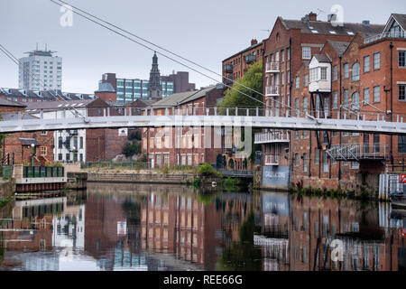 Calls Landing Riverside houses converted into city centre apartments Leeds West Yorkshire England