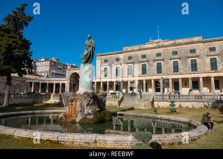 Greece Corfu Corfu Town an old palace is now the Museum of Asian Art - Stock Photo