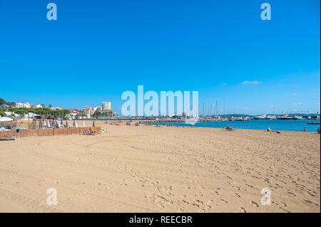 Beach, Sainte-Maxime, Var, Provence-Alpes-Cote d`Azur, France, Europe - Stock Photo