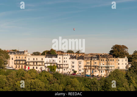 Views from the Clifton Suspension Bridge, Clifton, Bristol, UK - Stock Photo