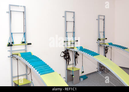 Medical spine trainer equipment. Spinal cord injury rehabilitation equipment in modern clinic - Stock Photo