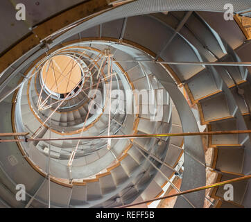 Looking up at the Spiral staircase in the Lighthouse, Scotland's Centre for Design and Architecture, Glasgow. - Stock Photo
