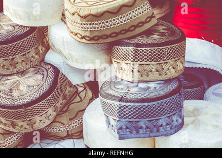 Traditional souvenir in tunisian market, Tunisia. - Stock Photo