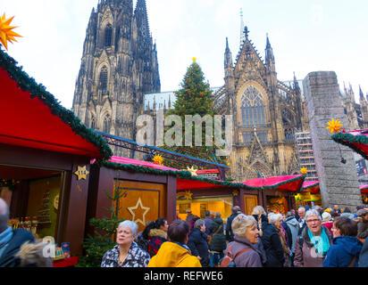 Cologne christmas market - Stock Photo