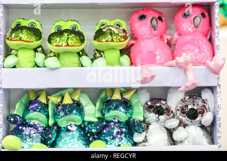 Olympia London, London, UK -22nd Jan 2019.  The Gosh Glitzies. The Toy Fair, the UK's largest dedicated toy, game and hobby trade show, opens at Kensington Olympia. It showcases more than 270 companies exhibiting thousands of products. Credit: Imageplotter News and Sports/Alamy Live News - Stock Photo