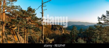 Beautiful landscapes of Dovbush Ukraine in autumn 2019 - Stock Photo