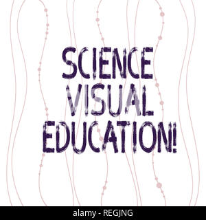 Text sign showing Science Visual Education. Conceptual photo Use infographic to understand ideas and concepts Vertical Curved String Free Flow with Be - Stock Photo