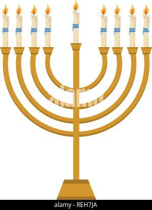 hanukkah jewish candles - Stock Photo