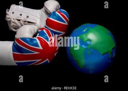 UK vs the world - Stock Photo