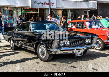 GERMANY, LIMBURG - APR 2017: black BUICK RIVIERA 1963 in Limburg an der Lahn, Hesse, Germany. - Stock Photo
