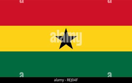 Ghana Flag - Stock Photo