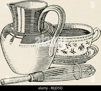 """. Cocoa and chocolate : their history from plantation to consumer. Chocolate; Cocoa. 170 COCOA AND CHOCOLATE as that of tea or coffee, and hence it is more suitable for young children. Dr. Hutchison, an authority on diet- etics, writes : """" Tea and coffee are also harmful to the susceptible nervous system of the child, but cocoa, made with plenty of milk, may be allowed, though it should be regarded, like milk, as a food rather than a beverage properly so called."""" Hozv to Make a Cup of Cocoa. Tea, coffee and cocoa are all so easy to make that it is remarkable anyone should fail to pre - Stock Photo"""