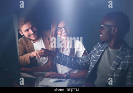 employees are satisfied with their success - Stock Photo