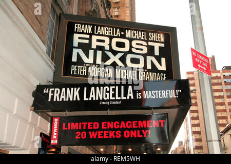 New York, NY - April 22: (Exterior) at The FROST/NIXON Opening Night on Broadway at the Bernard B. Jacobs Theater on Sunday, April 22, 2007 in New Yor - Stock Photo
