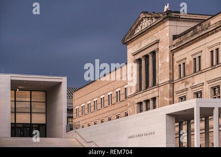 Newly-built James Simon Galerie, Berlin. - Stock Photo
